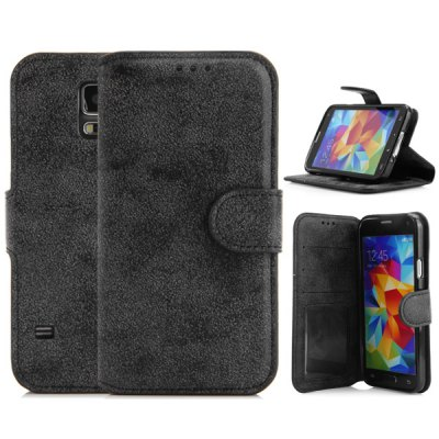 ФОТО PU Leather and TPU Material Vintage Style Cover Case for Samsung Galaxy S5 i9600