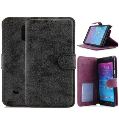 PU Leather and TPU Material Cover Case for Samsung Galaxy Note 4 N9100