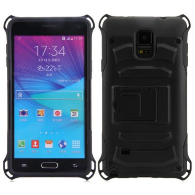 Гаджет   PC and TPU Material Stand Design Back Cover Case for Samsung Galaxy Note 4 N9100 Samsung Cases/Covers