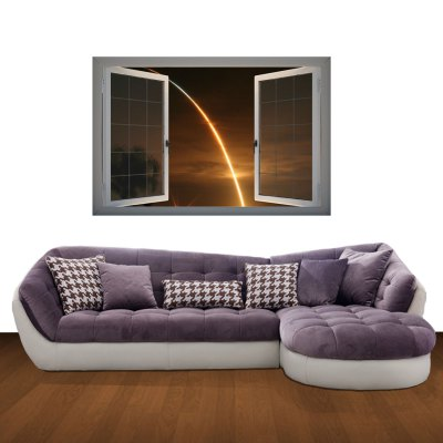 ФОТО A Ray of Sunshine Pattern Home Appliances Decoration 3D Wall Sticker