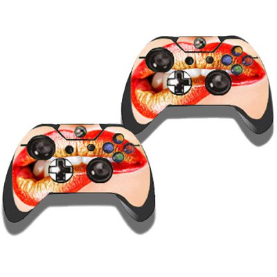 Фотография Protective Game Player and Controller Skin Sticker with Lip Pattern for Xbox One