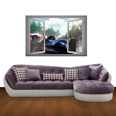 Гаджет   Car 3D Art Wall Decals / Removable Vinyl Stickers for Home / Office Home Decor