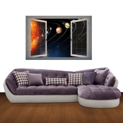 Фотография Wonders of the Universe Pattern Home Appliances Decoration 3D Wall Sticker
