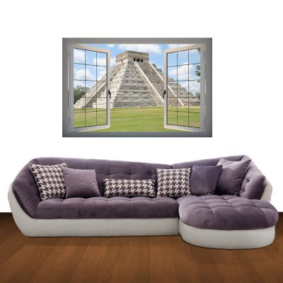 Static Architecture 3D Art Wall Decals / Removable Vinyl Stickers for Home / Office