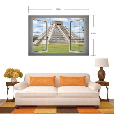 Фотография Static Architecture 3D Art Wall Decals / Removable Vinyl Stickers for Home / Office