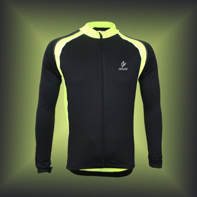 Arsuxeo 6011 Breathable Men Cycling Jersey Long Sleeve Bike Bicycle Outdoor Sports Running ClothesCycling Clothings<br>Arsuxeo 6011 Breathable Men Cycling Jersey Long Sleeve Bike Bicycle Outdoor Sports Running Clothes<br><br>Type: Cycling Jerseys<br>Brand Name: Arsuxeo<br>Model Number: 6011<br>For: Man<br>Material: Lycra, Polyester<br>Functions: Breathable, Quick-drying, Soft, Flexible<br>Suitable for : Electrombile, Bike, Motorbike, Mountain Bicycle, Road Bike<br>Color: Black, Blue, Green<br>Size: L, XL, XXL, XXXL, M<br> Product weight : 0.220 kg<br>Package weight : 0.270 kg<br>Package size (L x W x H)  : 28 x 24 x 3 cm / 11.00 x 9.43 x 1.18 inches<br>Package Contents: 1 x Cycling Jersey