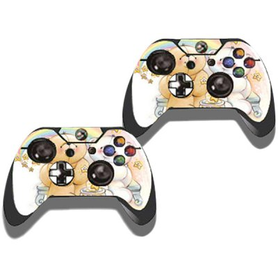 Фотография Protective Game Player and Controller Skin Sticker with Cute Panda Pattern for Xbox One