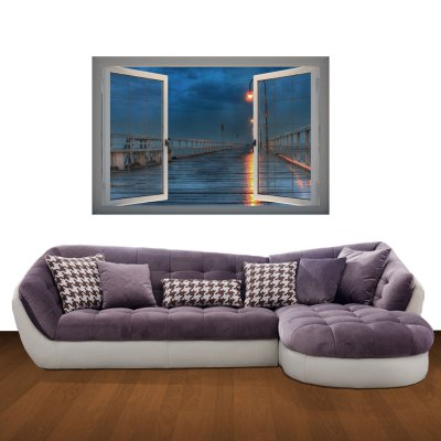 Bridge at Night Pattern Home Appliances Decoration 3D Wall StickerWall Stickers<br>Bridge at Night Pattern Home Appliances Decoration 3D Wall Sticker<br><br>Subjects: Still Life, Landscape<br>Color Scheme: Multicolor<br>Functions: Decorative Wall Stickers<br>Hang In/Stick On: Living Rooms, Hotels, Cafes, Kids Room, Offices, Lobby, Nurseries, Stair, Bedrooms, Toilet<br>Material: Vinyl(PVC)<br>Product Type: Art Print<br>Product weight   : 0.150 kg<br>Package weight   : 0.370 kg<br>Product size (L x W x H)   : 66 x 98 x 0.3 cm / 25.94 x 38.51 x 0.12 inches<br>Package size (L x W x H)  : 68 x 7 x 7 cm / 26.72 x 2.75 x 2.75 inches<br>Package Contents: 1 x Wall Sticker