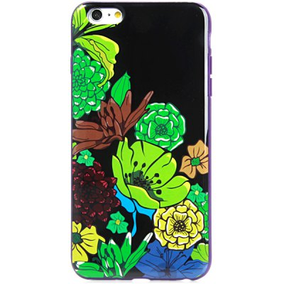 Гаджет   Beautiful Flower Pattern Back Cover Case for iPhone 6 Plus  -  5.5 inches