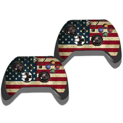 Фотография Protective Game Player and Controller Skin Sticker with US Flag Pattern for Xbox One