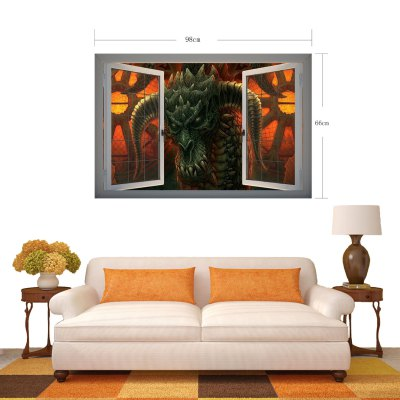 Фотография Chinese Dragon Picture 3D Art Wall Decals / Removable Vinyl Stickers for Home / Office