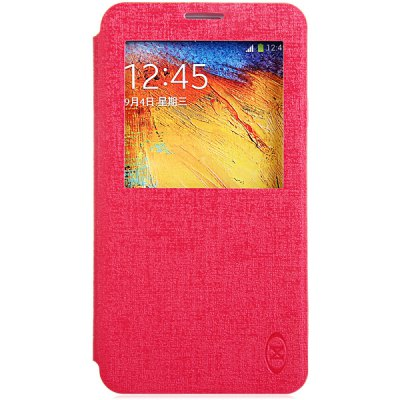 Гаджет   PU Leather TPU and PC Material View Window Cover Case for Samsung Galaxy Note 3 N9000 Samsung Cases/Covers