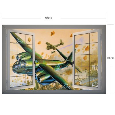 Гаджет   Fighter Pattern Home Appliances Decoration 3D Wall Sticker Home Decor