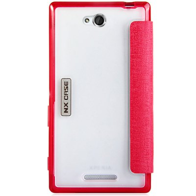 Фотография Exquisite PU Leather TPU and PC Material Phone Cover Case for Sony S39H