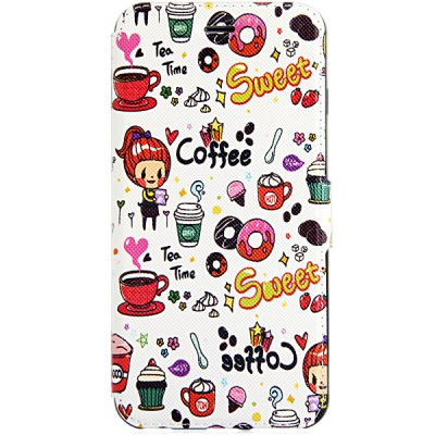 Гаджет   PU and TPU Material Cartoon Pattern Phone Cover Case with Stand for iPhone 6 Plus  -  5.5 inch