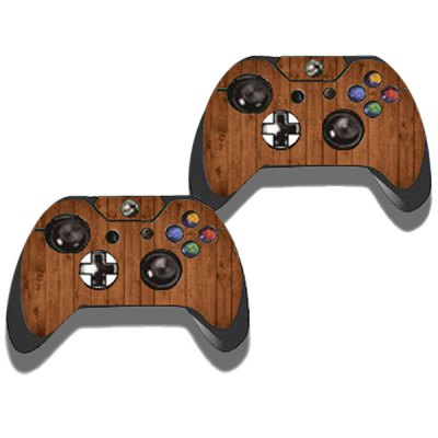 Фотография Protective Game Player and Controller Skin Sticker with Wood Pattern for Xbox One
