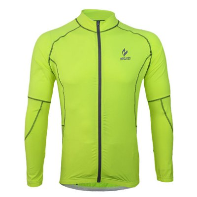 Arsuxeo 60016 Breathable Men Cycling Jersey Long Sleeve Bike Bicycle Outdoor Sports Running ClothesCycling Clothings<br>Arsuxeo 60016 Breathable Men Cycling Jersey Long Sleeve Bike Bicycle Outdoor Sports Running Clothes<br><br>Type: Cycling Jerseys<br>Brand Name: Arsuxeo<br>Model Number: 60016<br>For: Man<br>Material: Lycra, Polyester<br>Functions: Quick-drying, Soft, Flexible, Breathable<br>Suitable for : Motorbike, Mountain Bicycle, Road Bike, Electrombile, Bike<br>Color: Green, Blue<br>Size: M, L, XL, XXL<br> Product weight : 0.220 kg<br>Package weight : 0.270 kg<br>Package size (L x W x H)  : 24 x 22 x 4 cm / 9.43 x 8.65 x 1.57 inches<br>Package Contents: 1 x Cycling Jersey