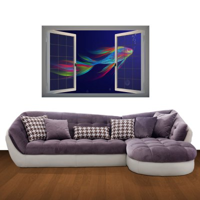 Marine Organisms Pattern Home Appliances Decoration 3D Wall Sticker