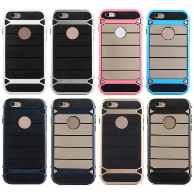 Фотография TPU and PC Material Stripe Design Phone Back Cover Case for iPhone 6 Plus  -  5.5 inch