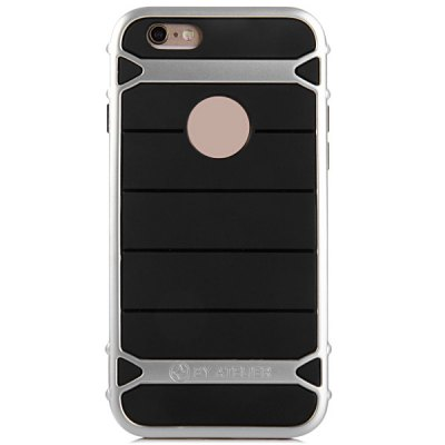 TPU and PC Material Stripe Design Phone Back Cover Case for iPhone 6 Plus  -  5.5 inch