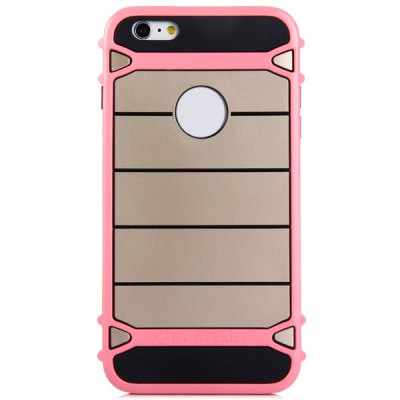 TPU and PC Material Stripe Design Phone Back Cover Case for iPhone 6  -  4.7 inch