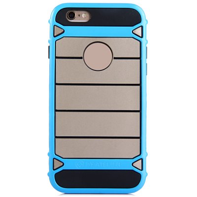 Фотография TPU and PC Material Stripe Design Phone Back Cover Case for iPhone 6  -  4.7 inch