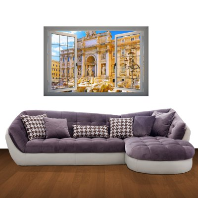ФОТО Historic Sites Pattern Home Appliances Decoration 3D Wall Sticker