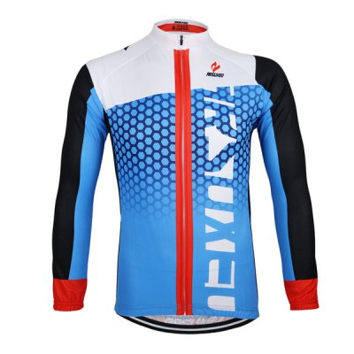 Arsuxeo ZLJ21Q Breathable Men Cycling Jersey Long Sleeve Bike Bicycle Outdoor Sports Running ClothesCycling Clothings<br>Arsuxeo ZLJ21Q Breathable Men Cycling Jersey Long Sleeve Bike Bicycle Outdoor Sports Running Clothes<br><br>Type: Cycling Jerseys<br>Brand Name: Arsuxeo<br>Model Number: ZLJ21Q<br>For: Man<br>Material: Polyester<br>Functions: Soft, Flexible, Breathable, Quick-drying<br>Suitable for : Mountain Bicycle, Road Bike, Electrombile, Bike, Motorbike<br>Color: Blue, Black, White<br>Size: S, M, L, XXXL, XL, XXL<br> Product weight : 0.360 kg<br>Package weight : 0.410 kg<br>Package size (L x W x H)  : 24 x 22 x 4 cm / 9.43 x 8.65 x 1.57 inches<br>Package Contents: 1 x Cycling Jersey