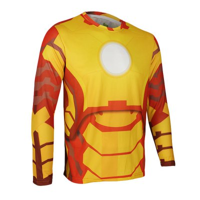 Гаджет   Arsuxeo Breathable Men Cycling Jersey Long Sleeve T - shirt Giant Spider Style Thermal Transfer Sports Running Clothes Cycling