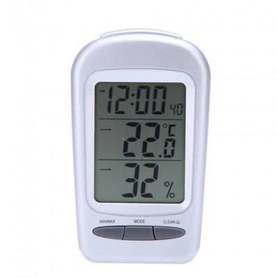 Practical Hygrometer LCD Digital Timing Alarm Clock Function for Indoor Supplies