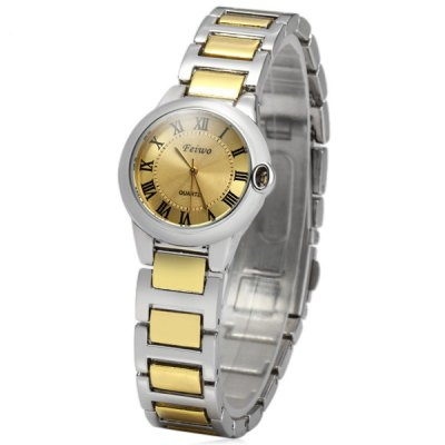 FEIWO 8216 Female Quartz Watch Water Resistant Wristwatch