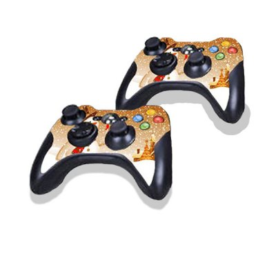 Snowman Style Game Console Gamepad Controller Stickers Skin for Xbox 360E