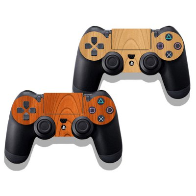 Фотография Protective Game Player and Controller Skin Sticker with Streaked Wood Pattern for Sony PlayStation 4
