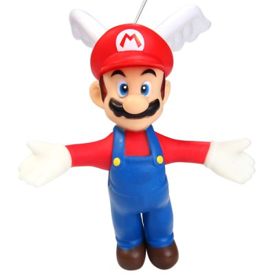 Гаджет   12cm Mini Super Mario Brothers Action Figure Mario with Wings and Sucker Doll Toy Dolls & Action Figures