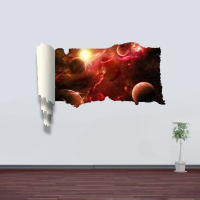 Planet in Space Style 3D Wall Sticker