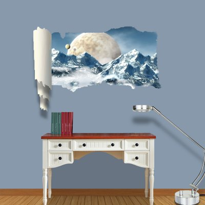 Planet View Pattern Home Appliances Decoration 3D Wall Sticker