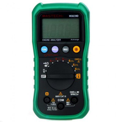 ФОТО MASTECH MS8239D Digital Multimeter DMM Volt Current Resistance Dwell Tach Tester