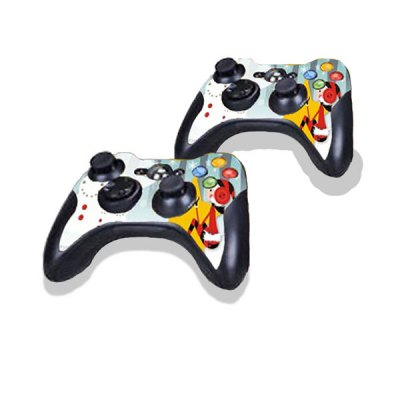 Cartoon Girl Style Game Console Gamepad Controller Stickers Skin for Xbox 360E