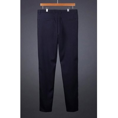Гаджет   Casual Zipper Fly Solid Color Personality Pocket Embellished Slimming Straight Leg Men