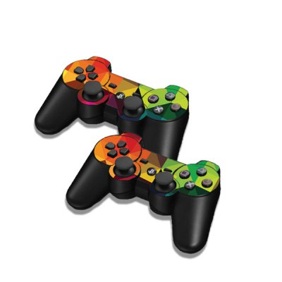 Фотография Colorful Triangle Style Game Console Gamepad Controller Stickers Skin for PS3 Slim 4000