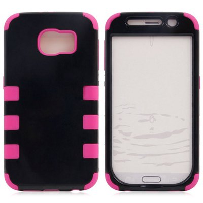 Фотография Practical Plastic and Silicone Material Back Cover Case for Samsung Galaxy S6 G9200