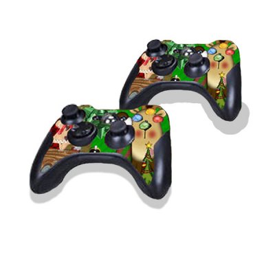 Гаджет   Christmas Style Game Console Gamepad Controller Stickers Skin for Xbox 360E Video Game