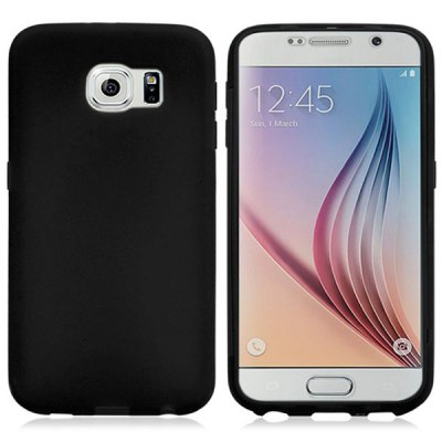 Silicone Material Transparent PC Front Cover Phone Protective Case for Samsung Galaxy S6 G9200