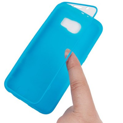 Фотография Silicone Material Transparent PC Front Cover Phone Protective Case for Samsung Galaxy S6 G9200