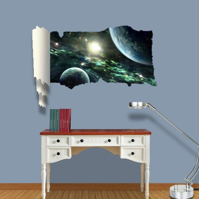 ФОТО Planets Pattern Home Appliances Decoration 3D Wall Sticker