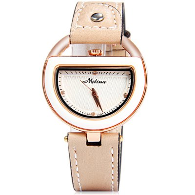 Mitina 261 Female Quartz Watch Japan Movt Buckle WristwatchWomens Watches<br>Mitina 261 Female Quartz Watch Japan Movt Buckle Wristwatch<br><br>Brand: Mitina<br>Watches categories: Female table<br>Style : Ultrathin, Fashion&amp;Casual<br>Movement type: Quartz watch<br>Display type: Analog<br>The bottom of the table: Ordinary<br>Case material: Stainless steel<br>Band material: Leather<br>Clasp type: Pin buckle<br>The dial thickness: 0.7 cm<br>The dial diameter: 3.5 cm<br>The band width: 1.7 cm<br>Product weight: 0.030 kg<br>Package weight: 0.100 kg<br>Product size (L x W x H) : 23.0 x 3.5 x 0.7 cm / 9.04 x 1.38 x 0.28 inches<br>Package size (L x W x H): 26 x 5 x 4 cm / 10.22 x 1.97 x 1.57 inches<br>Package contents: 1 x Watch