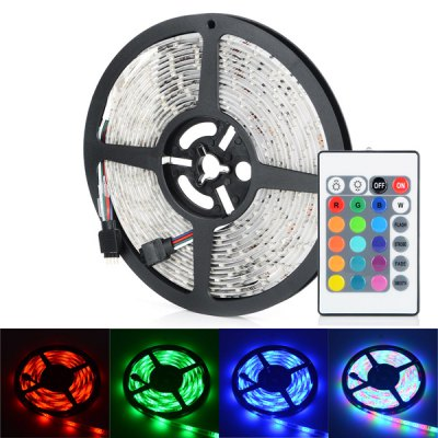 HML 5M 30W 300 SMD 3528 Water Resistant RGB LED Strip Light + Controller