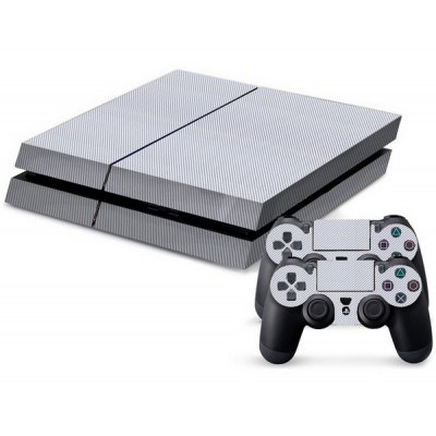 Carbon Fiber Game Console Gamepad Full Body Sticker for PS4