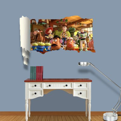 ФОТО Toy Story Pattern Home Appliances Decoration 3D Wall Sticker