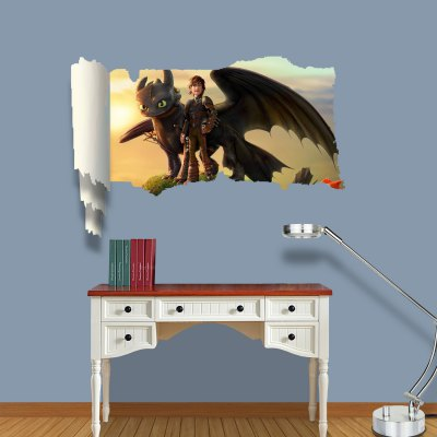 Гаджет   How to Train a Dragon Pattern Home Appliances Decoration 3D Wall Sticker Home Decor